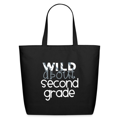 Wild About Second Grade Funky Teacher T-shirt - Eco-Friendly Cotton Tote