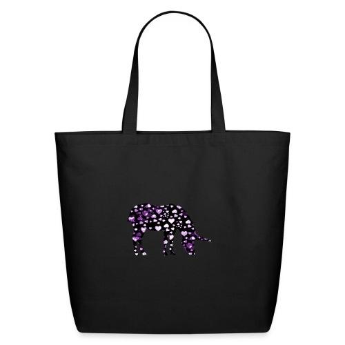 Unicorn Hearts purple - Eco-Friendly Cotton Tote