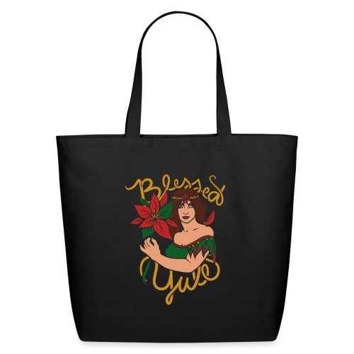 blessed yule - Eco-Friendly Cotton Tote