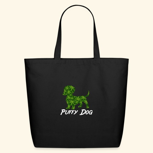 PUFFY DOG - PRESENT FOR SMOKING DOGLOVER - Eco-Friendly Cotton Tote