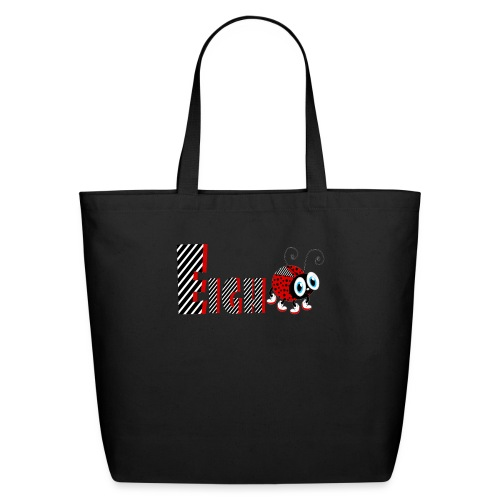 8nd Year Family Ladybug T-Shirts Gifts Daughter - Eco-Friendly Cotton Tote