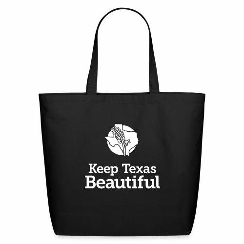 Keep Texas Beautiful Logo - White - Eco-Friendly Cotton Tote