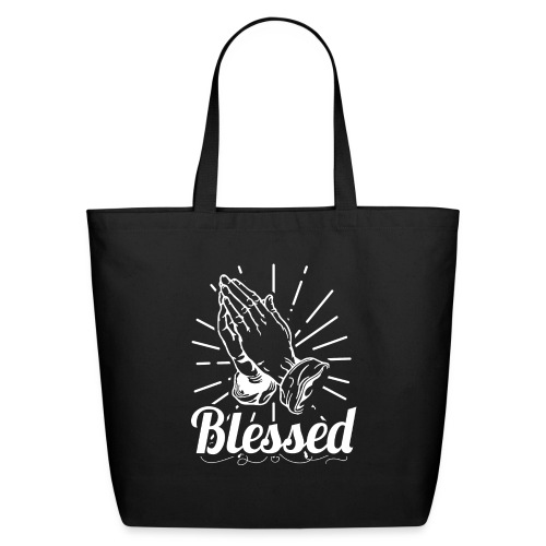 Blessed (White Letters) - Eco-Friendly Cotton Tote