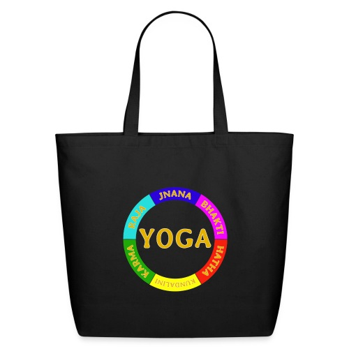 6 ways of Yoga - Eco-Friendly Cotton Tote