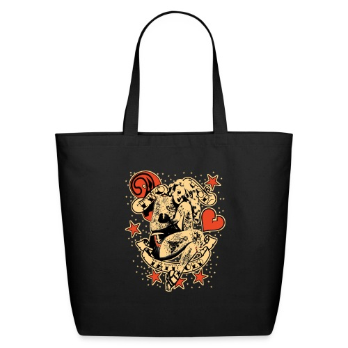 Screwed & tattooed Pin Up Zombie - Eco-Friendly Cotton Tote