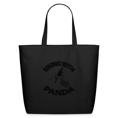 Biking with Panda - Eco-Friendly Cotton Tote