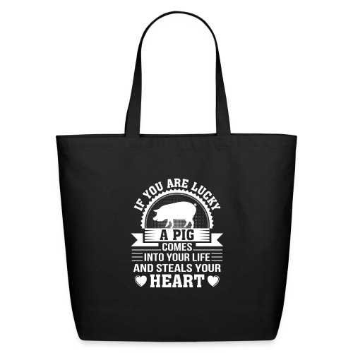 Mini Pig Comes Your Life Steals Heart - Eco-Friendly Cotton Tote