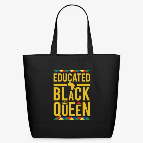 Educated Black Queen - Eco-Friendly Cotton Tote
