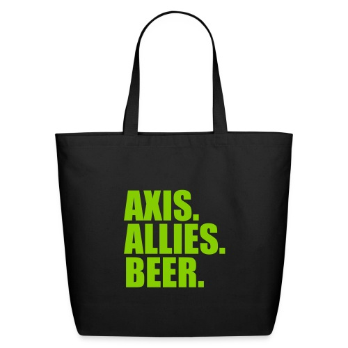 Axis. Allies. Beer. Axis & Allies - Eco-Friendly Cotton Tote