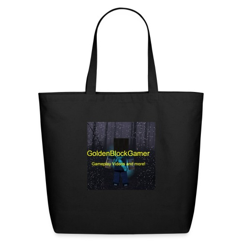 GoldenBlockGamer Tshirt - Eco-Friendly Cotton Tote
