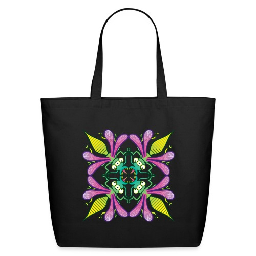 Glowing insects meeting in the middle of the night - Eco-Friendly Cotton Tote