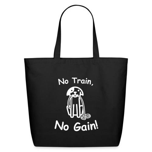 No Train, No Gain! (White) - Eco-Friendly Cotton Tote