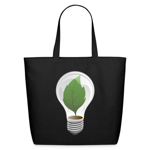 Clean Energy Green Leaf Illustration - Eco-Friendly Cotton Tote