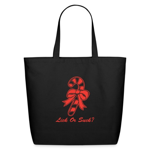 Lick Or Suck Candy Cane - Eco-Friendly Cotton Tote