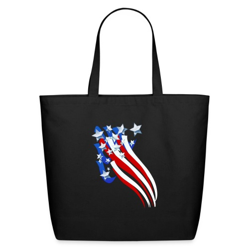 Sweeping Old Glory - Eco-Friendly Cotton Tote