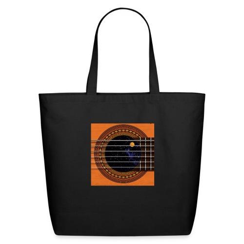 Cool Guitar Soundhole - Eco-Friendly Cotton Tote