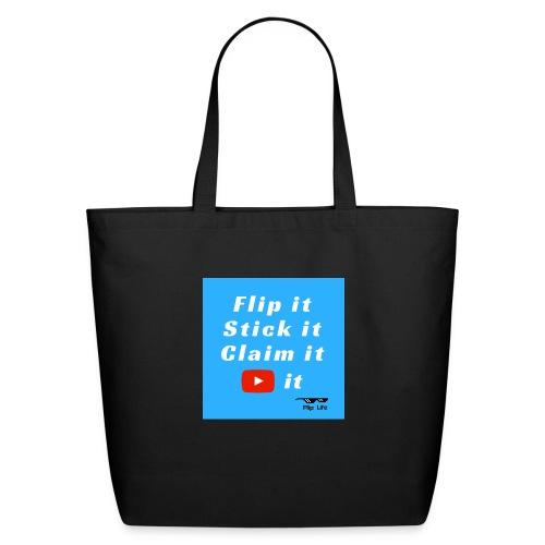Flip It Blue Back Flip T-shirt - Eco-Friendly Cotton Tote
