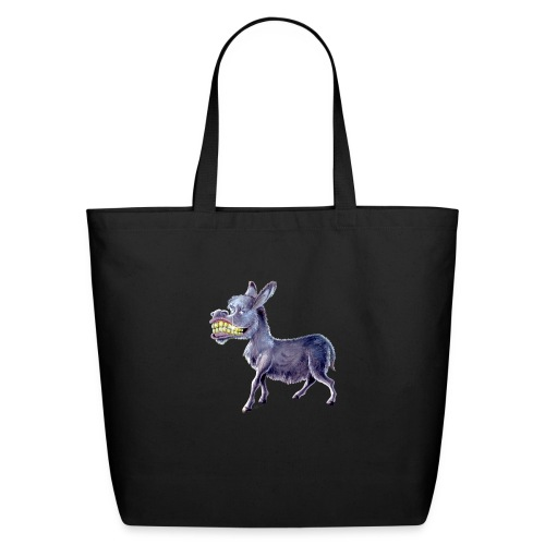 Funny Keep Smiling Donkey - Eco-Friendly Cotton Tote