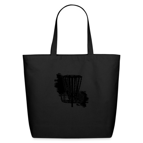 Disc Golf Basket Paint Black Print - Eco-Friendly Cotton Tote