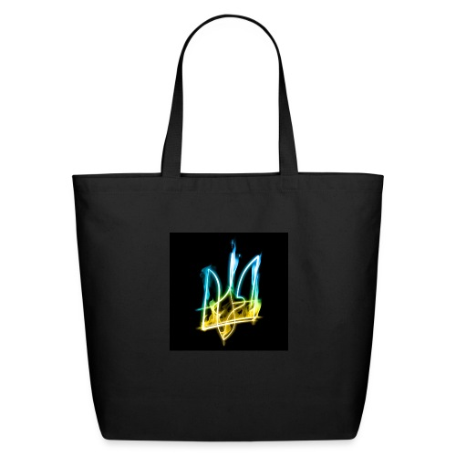 Burning Trident for button pins - Eco-Friendly Cotton Tote