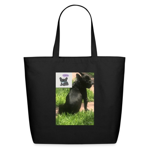 french bulldog - Eco-Friendly Cotton Tote