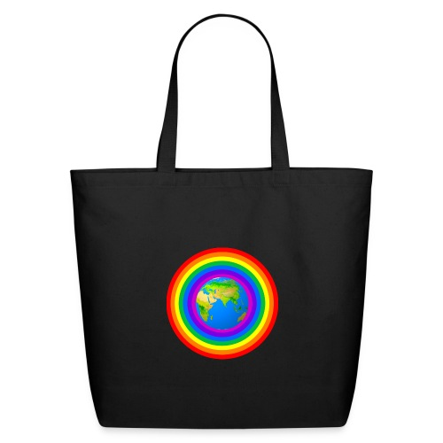 Earth rainbow protection - Eco-Friendly Cotton Tote