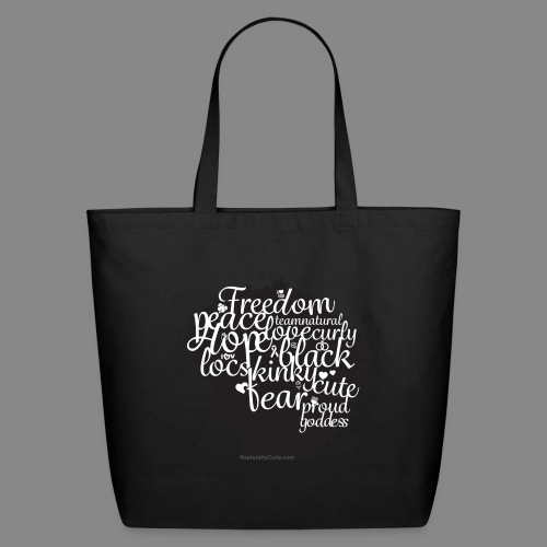Afro Text II - Eco-Friendly Cotton Tote
