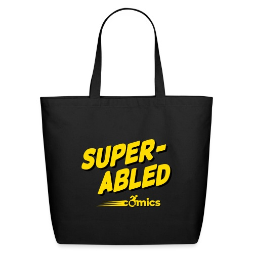 Super-Abled Comics - yellow/black - Eco-Friendly Cotton Tote