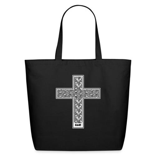 Jesus cross. I'm no longer a slave to fear. - Eco-Friendly Cotton Tote