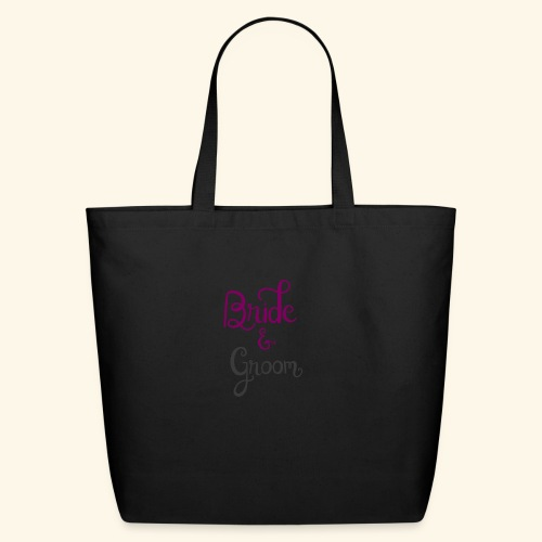 bride and groom - Eco-Friendly Cotton Tote