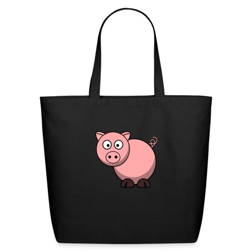 Funny Pig T-Shirt - Eco-Friendly Cotton Tote