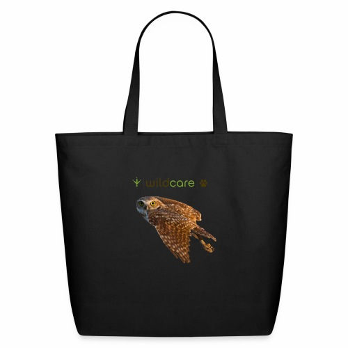 Burrowing Owl in Flight - Eco-Friendly Cotton Tote