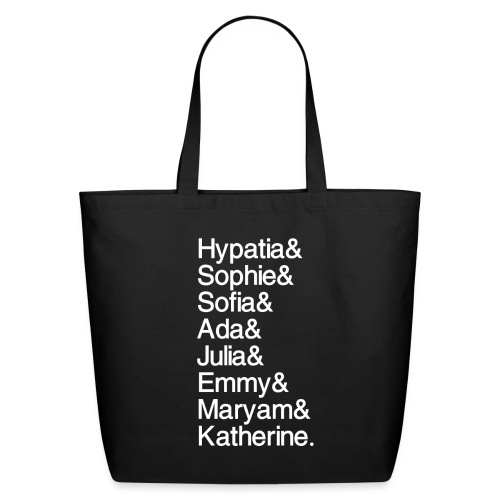 Math Gals OG w/ #MathGals hashtag - Eco-Friendly Cotton Tote