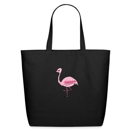 Polka Dotted Flamingo - Eco-Friendly Cotton Tote