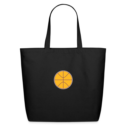 Basketball purple and gold - Eco-Friendly Cotton Tote