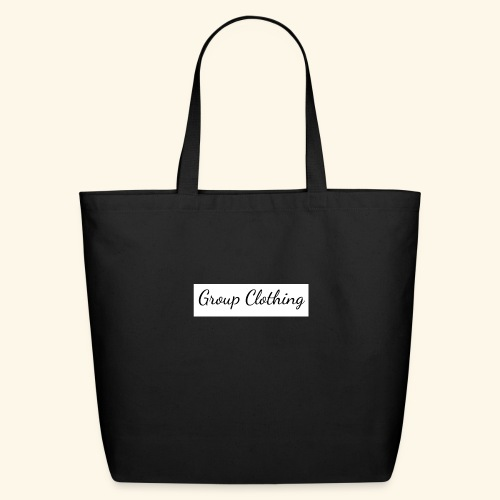 Cursive Black and White Hoodie - Eco-Friendly Cotton Tote