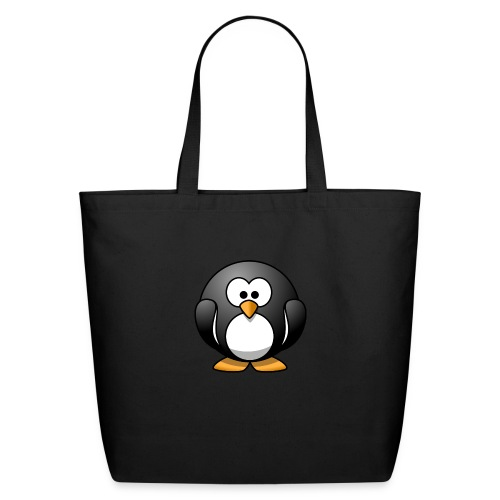 Funny Penguin T-Shirt - Eco-Friendly Cotton Tote