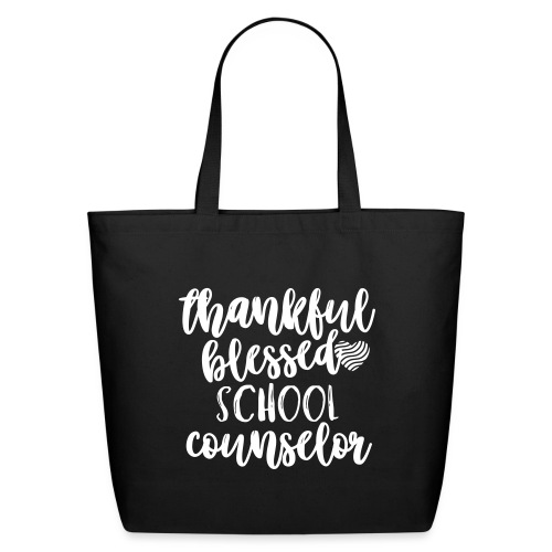 Thankful Blessed School Counselor Teacher T-Shirt - Eco-Friendly Cotton Tote