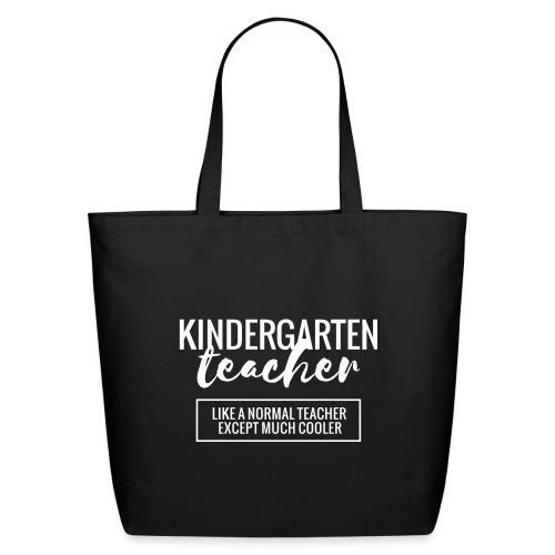 Cool Kindergarten Teacher Funny Teacher T-Shirt - Eco-Friendly Cotton Tote