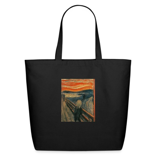 The Scream (Textured) by Edvard Munch - Eco-Friendly Cotton Tote