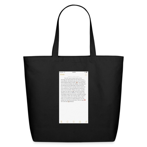 Text from a Football Commit - Eco-Friendly Cotton Tote