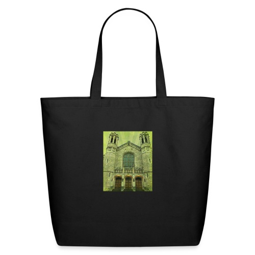 Green gothic cathedral - Eco-Friendly Cotton Tote