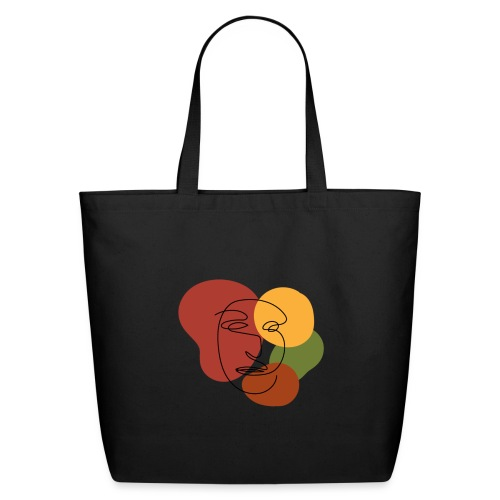 abstract minimalist face - Eco-Friendly Cotton Tote