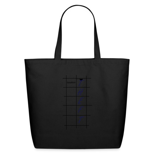 Taxation is Theft Crossword - Eco-Friendly Cotton Tote