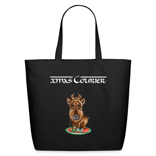 reindeer refined scribble - Eco-Friendly Cotton Tote