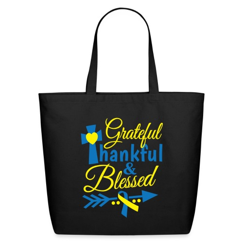 Grateful, Thankful & Blessed - Eco-Friendly Cotton Tote
