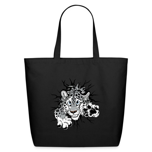 STUCK Snow Leopard (double-sided) - Eco-Friendly Cotton Tote