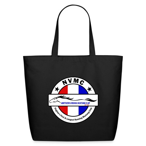 Circle logo on white with black border - Eco-Friendly Cotton Tote