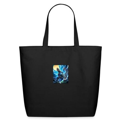 Blue lighting dragom - Eco-Friendly Cotton Tote