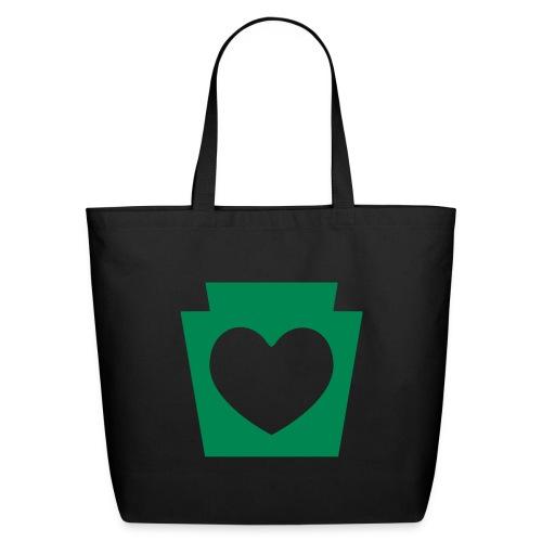 Love/Heart PA Keystone - Eco-Friendly Cotton Tote